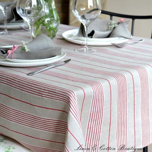 Mantel de mesa moderno a rayas