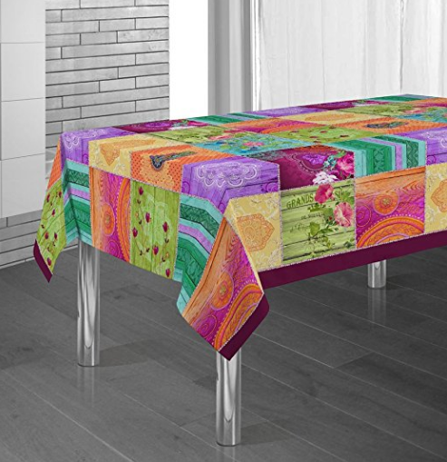 Mantel moderno para mesa en colores llamativos manteles para mesa modernos - Mantel para mesa exterior ...