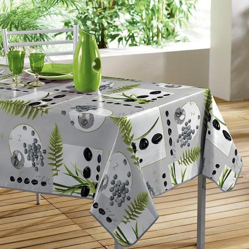 Manteles de mesa con estampado de hojas