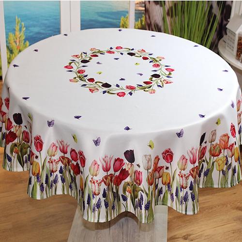 Mantel de mesa redondo butterfly manteles para mesa modernos - Mantel para mesa exterior ...