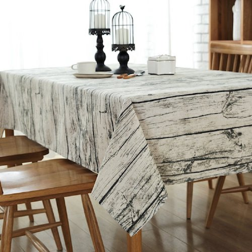 Mantel de mesa moderno antimanchas