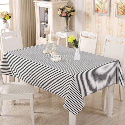 Mantel para mesa de rayas moderno