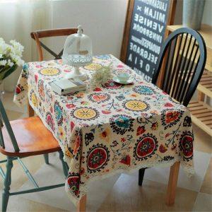Mantel de colores para mesa
