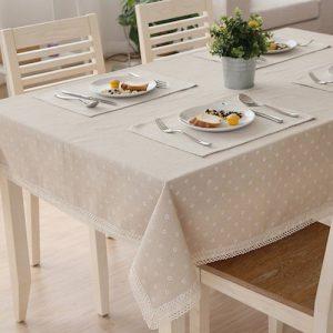 Mantel para mesa de algodón y lino